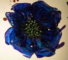 recycle4real: 11th project completed - plastic bottle flower brooches
