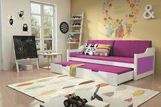 Kinder-Doppelbett Tobias Weiß mit 8 verschiedenen Dekorfarben und 2 unterschiedlichen Größen zur Auswahl Diese Kinderbetten unterscheiden sich von anderen in Kreativität,... #kinder #kinderzimmer #kinderbett #doppelbett