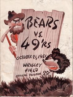 Old BEARS vs. 49'rs poster from 1951