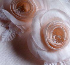 SALE Silk Millinery Camellia in Peach Blush for by MaryNotMartha, $11.50