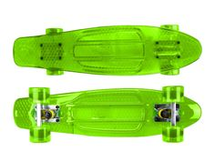 "Zycle Fix Mayhem 22"" Penny Style Skateboard (Transparent Green)"