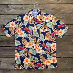 8ae8b53c Car Hawaiian Shirt- Men's Medium- Hot Rod Tiki Shirt- Aloha Shirt- Party  Shirt- Luau- Tropical- Travel- Tourist- Red Car- Vintage tiki- BBQ