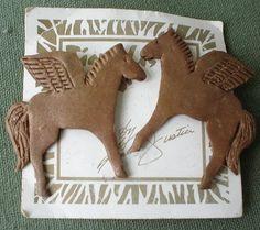 Vintage Pegasus Earrings