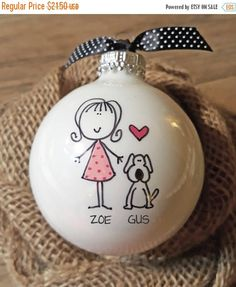 ON SALE Ornament Personalized Pet Ornament Personalized Dog