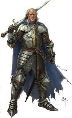 m Fighter Plate Armor Cloak Sword
