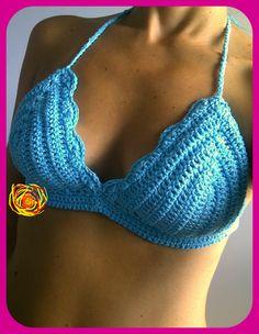 corpiño de bikini tejido al crochet