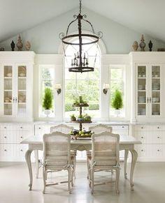 Windows to counter!!!!!! Providence Ltd Design - Kitchen and Breakfast Room Lighting