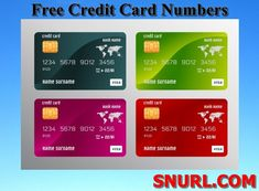 Free Credit Card Numbers That Work 2019 (Active Credit Card Numbers) – You can use a credit card for many . Read moreFree Credit Card Numbers That Work 2019 (Active Credit Card Numbers)