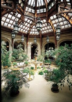 Avoid the rain and have lunch in the conservatory