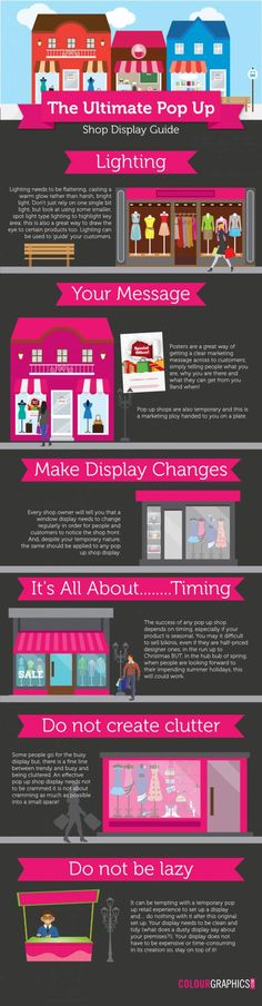 The ultimate Guide to Pop Up Shop Displays - Infographic Portal