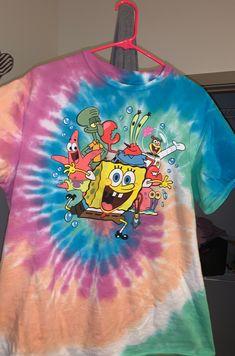 Tye-Dye Spongebob Squarepants Shirt on Mercari Blusas Oversized, Spongebob Shirt, Outfits For Teens, Cute Outfits, Cute Sweatpants Outfit, How To Tie Dye, Aesthetic Shirts, Tie Dye Outfits, Tie Dye Shirts