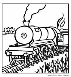 Steam Train Coloring Pages | ... Coloring pages - Steam engine ...