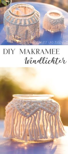 DIY Macramee Jars Diy And Crafts, Arts And Crafts, Hydrangea Care, Plant Hanger, Most Beautiful Pictures, Easy Diy, Decorative Boxes, Told You So, Crafty