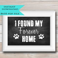 Printable Pet Photo Prop  INSTANT DOWNLOAD  by TidyLadyPrintables