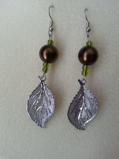 Pretty Metal Leaf Earrings by sweetmelissasshop on Etsy, $7.00