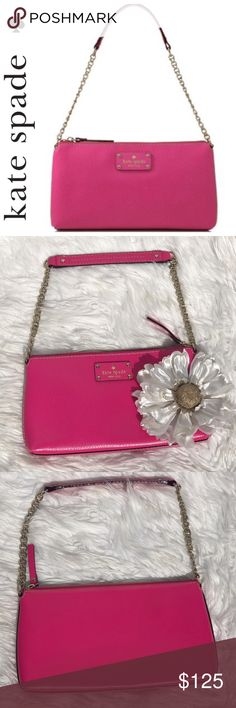 💕SALE💕 kate spade Pink Wellesley Byrd Crossbody Fabulous NWOT 💕 kate spade Pink Wellesley Byrd Crossbody Perfectly sized to keep all your must haves at hand with just enough room for some oh-why-nots see photo for details. Perfect gift for that loved one it Treat yourself to a High Quality Leather kate spade bag kate spade Bags Crossbody Bags