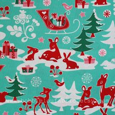Micheal Miller 'Yule Critters' fabric - I must make some Christmas stockings from this fabric