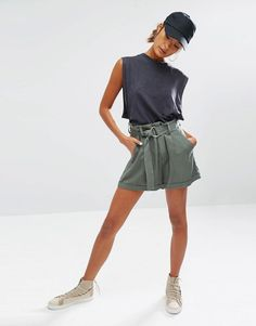 Daisy+Street+Casual+Shorts+With+D-Ring+Detail