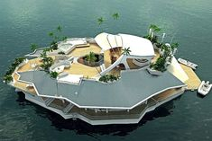 The smallest floating personal island.