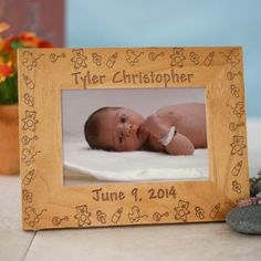 $22.98 Baby Toys Baby Wood Picture Frame