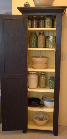 Farmhouse Country Primitive Chimney Cabinet -