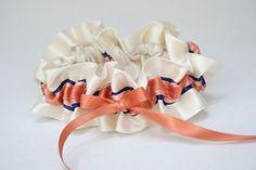 ivory-coral-navy-wedding-garter-The-Garter-Girl