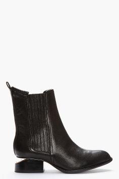 Alexander Wang rose gold-heeled boots