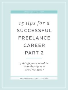 New to freelancing? Click through to read 15 tips on going freelance and download your free workbook!