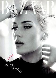 UK Harper's Bazaar April 2013: Kate Winslet by Alexi Lubomirksi