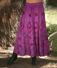 Another great find on #zulily! Purple Lace Peasant Skirt - Women #zulilyfinds