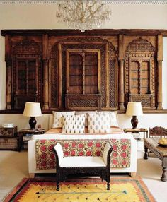 indian inspired, indian decor, indian interiors, indian jewelry, indian home Ethnic Bedroom, Moroccan Bedroom, Unique Headboards, British Colonial Decor, Dutch Colonial, Indian Interiors, Indian Home Decor, Indian Bedroom Decor, Bedroom Themes