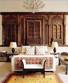 Indian bedroom by designer Matthew Patrick Smyth. Elle Decor December 2005
