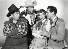 ON THE OLD SPANISH TRAIL (1947) - Andy Devine, Roy Rogers, Jane Frazee & Tito Guizar - Republic Pictures - Publicity Still.