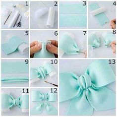 Bows baby blue