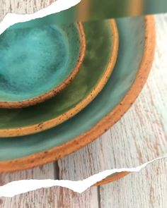 Bowl Set, Handmade Pottery Nesting Bowls, Rustic Modern Ceramic Bowl Set of 3 in Blue and Green Shop today 👍 Pottery Bowls, Ceramic Bowls, Ceramic Pottery, Stoneware, Nesting Bowls, Plates And Bowls, Modern Ceramics, Dinnerware Sets, Rustic Modern
