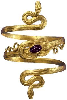 Snake Bracelet Gold garnet Greco-Hellenistic period 3rd-2nd... (via Collector's Weekly)