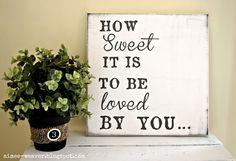 """""""How Sweet It Is"""" canvas art"""