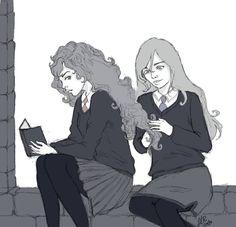 For my dear Luna and Hermione (c) J. Rowling Luna And Hermione Kirito Sword, Asuna, Sword Art Online, Online Art, Zuko, Character Description, Hermione, Drawing Tools, Beast