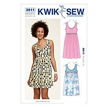 Buy Kwik Sew Women's Tunic And Dress Sewing Pattern, K3611 Online at johnlewis.com
