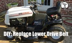 DIY: How to Change the Lower Drive Belt on a MTD, Bolens, Yard Machines,...