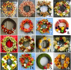 Fall Wreaths -- I love 11, the yarn/argyle.