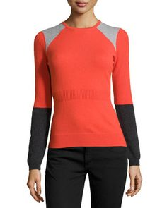 Cashmere Colorblock Sweater, Lipstick by Todd and Duncan. I don't think this would look good on me, but it's cool.