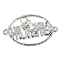 Zwischenteil 925 Sterling Silber 2 Ösen I love you mummy 2 Ösen30   Your #1 Source for Toys and Games