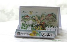 Handmade by Mihaela: Easter story. Marianne Design Cards, Easter Story, Happy Easter, Decorative Boxes, Cute, Handmade, Animals, Embellishments, Happy Easter Day