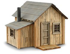 left viewZeke's Cabin-Front left view Model home built with popsicle sticks - A Main Hobbies Coupon Product Polhus Lekstuga Otto Polhus Lekstuga Otto Vintage Putz Style Houses Vintage Set of 9 Houses Popsicle Stick Crafts House, Popsicle Sticks, Craft Stick Crafts, Plan Chalet, Fairy Houses, Doll Houses, Miniature Houses, Kit Homes, Little Houses