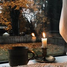 Lovely morning coffee view Image Pinterest, Inmobiliaria Ideas, Perfect Day, Hello November, October, Autumn Aesthetic, Autumn Cozy, Slow Living, Cozy Living