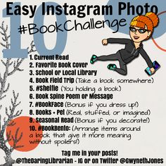The Daring Librarian: 10 Easy Instagram Photo Book Challenge