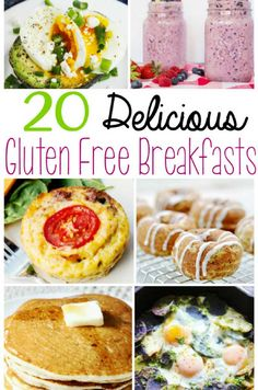 These 20 Delicious Gluten Free Breakfast Recipes are the perfect way to start your day! It is such a cliche that breakfast is the most important meal of the day, but for me, this is so true. If I skip it, I am cranky all day. I have less energy, and most likely I'm going to be overeating for the rest of the day. Just because you are gluten-free doesn't mean that breakfast has to be boring! Here are 20 Delicious Gluten Free Breakfast Recipes for you to enjoy. #wendypolisi #glutenfree…