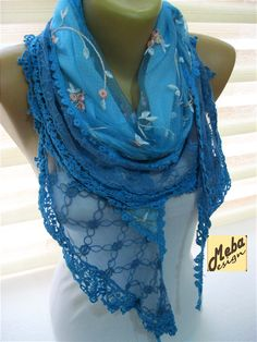 ScarfBlue scarf gift Ideas For Her Women's
