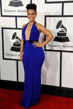 Alicia Keys at the 2014 Grammys